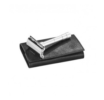 merkur_travel_satin(Travel-Razor-with-Leather-Pouch-(46C))